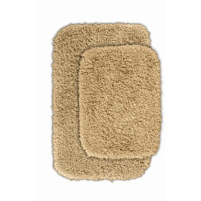 Devin 2 Piece Black Bath Rug Set Color: Linen