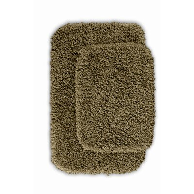 Devin Black Bath Rug Set Color: Taupe