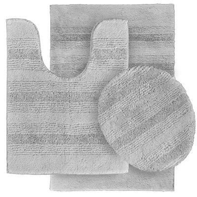 Deyanira Green Bath Rug Set Color: Platinum Gray