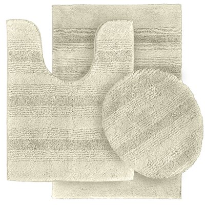 Deyanira Green Bath Rug Set Color: Ivory