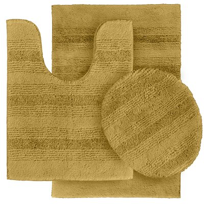 Deyanira Green Bath Rug Set Color: Linen