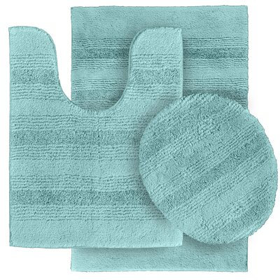 Deyanira Green Bath Rug Set Color: Sea Foam