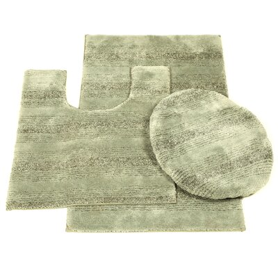 Deyanira Green Bath Rug Set Color: Deep Fern