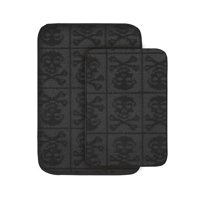 Skull and Crossbones Bath Rug Set