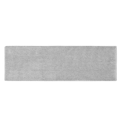 Lucille Bath Rug Size: 24 x 40, Color: Platinum Gray