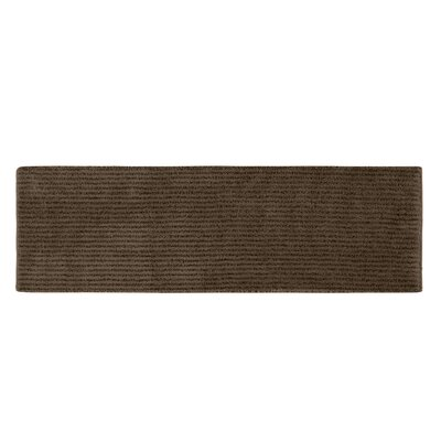 Lucille Bath Rug Size: 24 x 40, Color: Chocolate