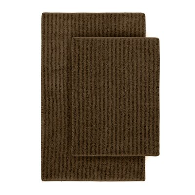 Devinne 2 Piece Red Bath Rug Set Color: Chocolate