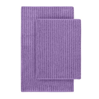 Devinne 2 Piece Red Bath Rug Set Color: Purple
