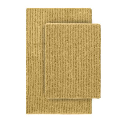 Devinne 2 Piece Red Bath Rug Set Color: Linen