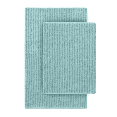 Devinne 2 Piece Red Bath Rug Set Color: Sea Foam