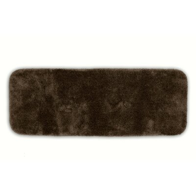 Breyana  Bath Rug Color: Chocolate, Size: 2 6 x 4 2