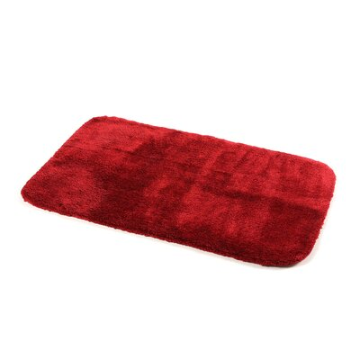 Breyana  Bath Rug Color: Chili Pepper Red, Size: 2 6 x 4 2