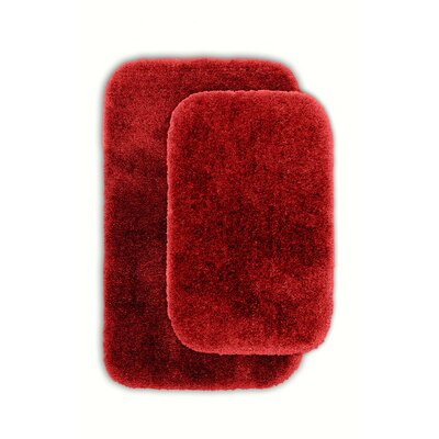 Kyan Blue Bath Rug Set Color: Chili Pepper Red
