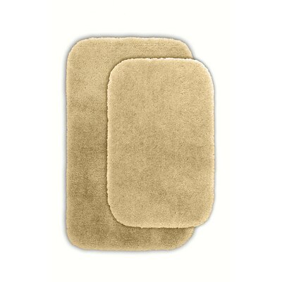 Kyan Blue Bath Rug Set Color: Linen