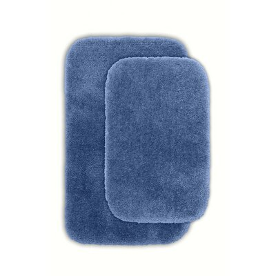 Devnet 2 Piece Blue Bath Rug Set Color: Basin Blue