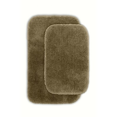Devnet 2 Piece Blue Bath Rug Set Color: Taupe