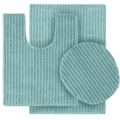 Breyanna  Bath Rug Color: Sea Foam