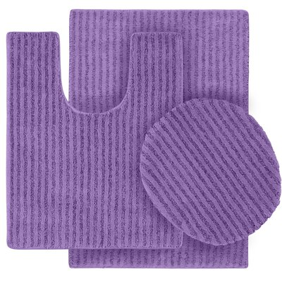 Breyanna  Bath Rug Color: Purple