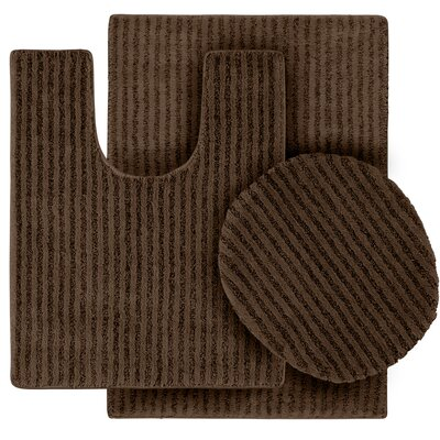 Breyanna  Bath Rug Color: Chocolate