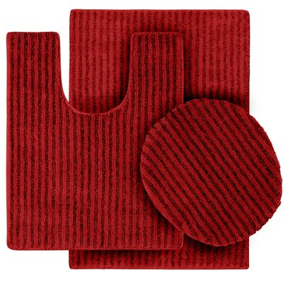 Breyanna  Bath Rug Color: Chili Pepper Red