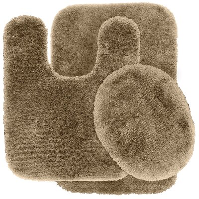 Deyor Bath Rug Set Color: Taupe