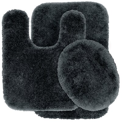 Deyor Bath Rug Set Color: Dark Gray