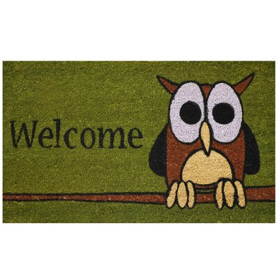 Thersa Owl Welcome Doormat