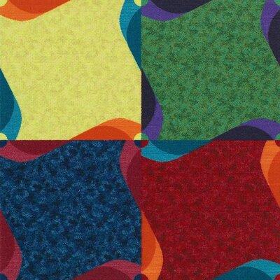 Dimitira  39 x 39 Carpet Tile in Multi (Set of 25)