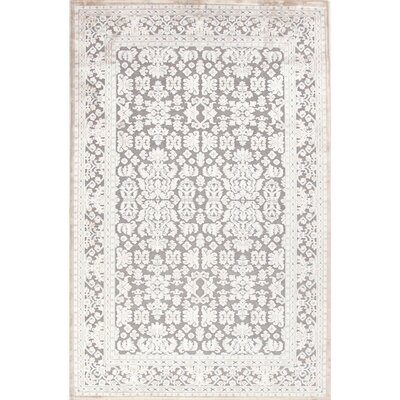 Chiquin Grey Area Rug Rug Size: Rectangle 9 x 12