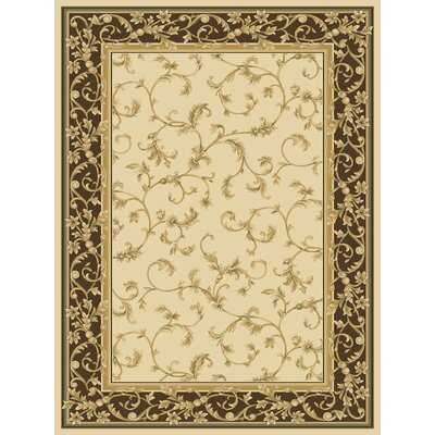 Derika  Wheat Area Rug Rug Size: 53 x 77