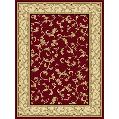 Chellsie Crimson/Wheat Area Rug Rug Size: 33 x 53