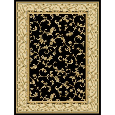 Calley  Black Area Rug Rug Size: 53 x 77