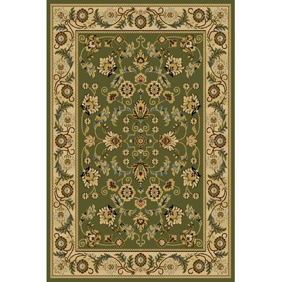 Cicily  Green Area Rug Rug Size: Rectangle 33 x 53