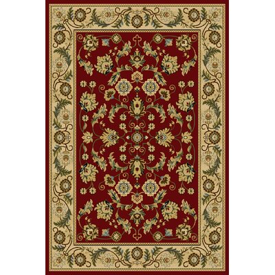 Daralis  Red Area Rug Rug Size: 710 x 910