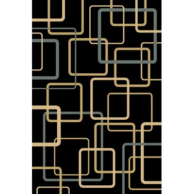 Calliah  Black Area Rug Rug Size: 910 x 1210