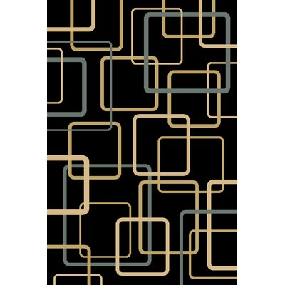 Calliah  Black Area Rug Rug Size: 33 x 53