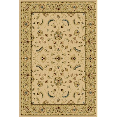 Clodomira  Ivory Area Rug Rug Size: Rectangle 710 x 910