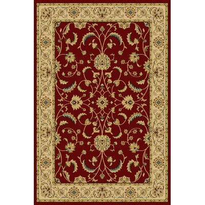 Daran  Red Area Rug Rug Size: 33 x 53