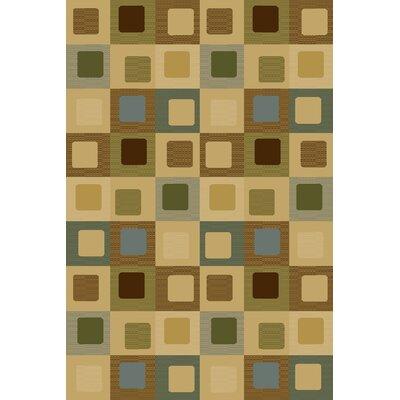 Bronny  Beige Area Rug Rug Size: 33 x 53
