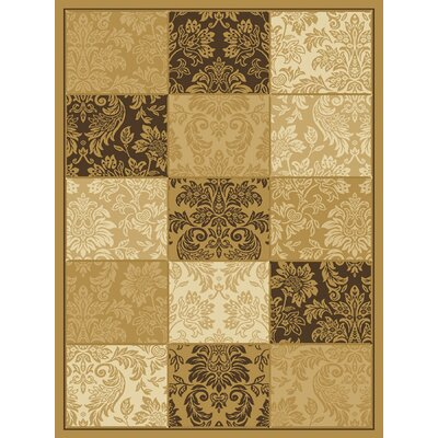 Aspyn Hand woven Wheat/Brown Area Rug Rug Size: 53 x 77