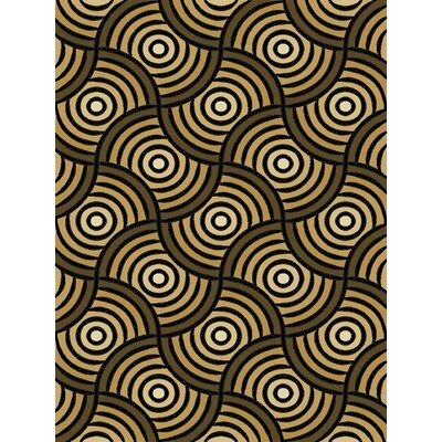 Cacie Black/Brown Area Rug Rug Size: Rectangle 53 x 77
