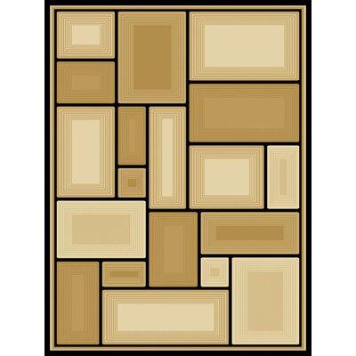 Ariadne  Gold Area Rug Rug Size: 53 x 77