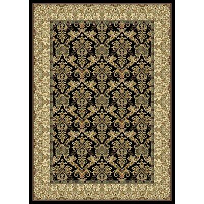 Calliope  Black Area Rug Rug Size: 53 x 77