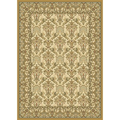 Ivy Wheat Area Rug Rug Size: 53 x 77
