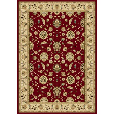 Darcell  Red Area Rug Rug Size: Rectangle 53 x 77