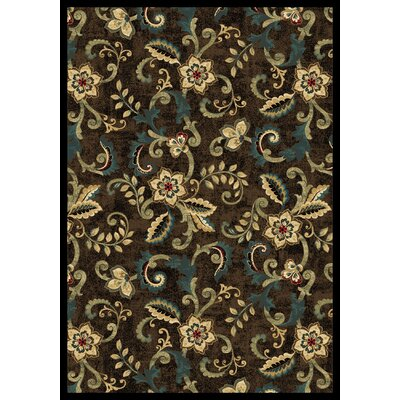 Cayce  Brown Area Rug Rug Size: Rectangle 53 x 77