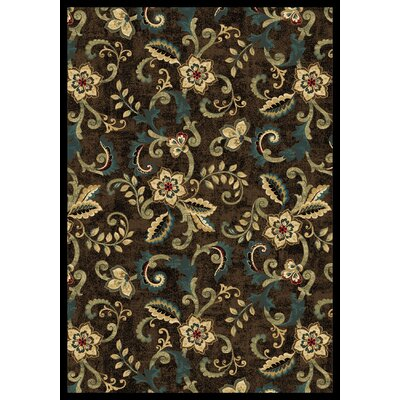 Cayce  Brown Area Rug Rug Size: 710 x 1010