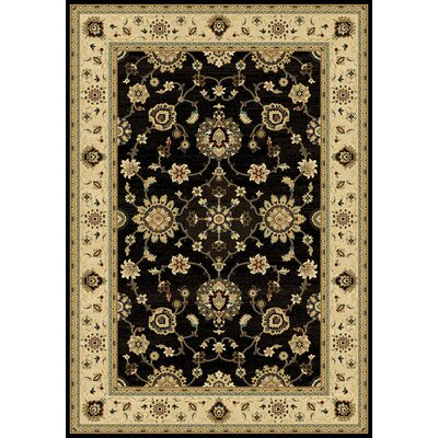 Caecey Black/Wheat Area Rug Rug Size: 710 x 1010