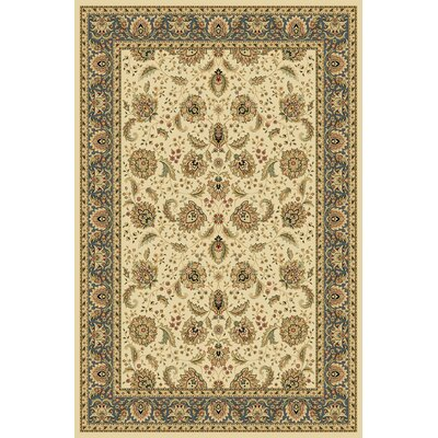 Derfuta Wheat/Blue Area Rug Rug Size: 53 x 77