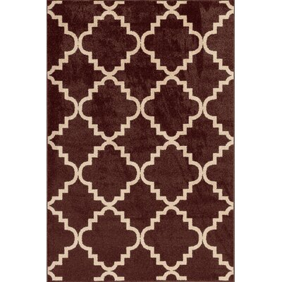 Chanter Chestnut/Bone Area Rug Rug Size: 67 x 96